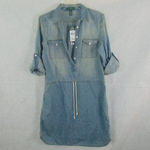 NEW Lauren Ralph Lauren / LRL Denim Dress size 10